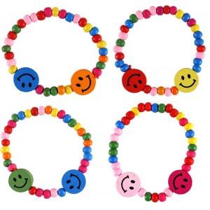 PP - Smiley Wooden Bracelets