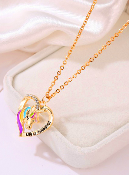 Unicorn Heart Necklace